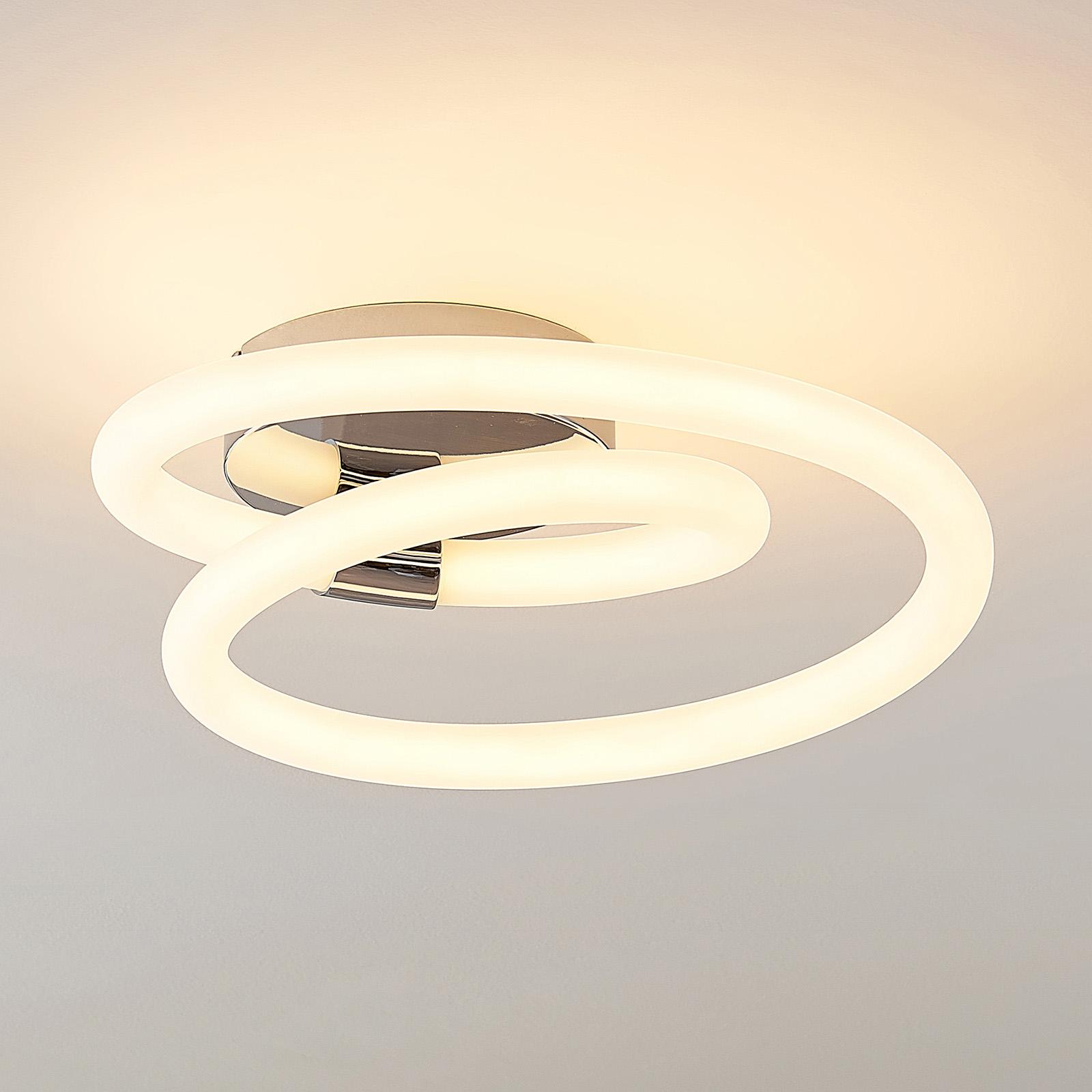 Lucande Lumka applique LED en chromé