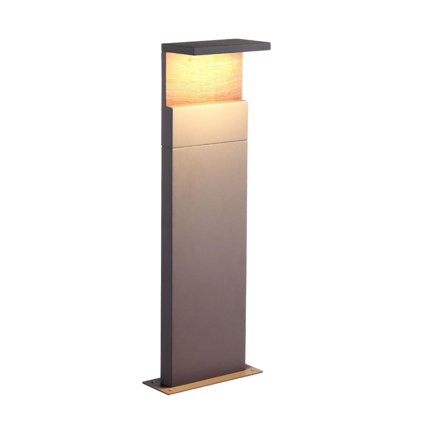 LED-Wegeleuchte Ruka mit Holz-Element, 60 cm