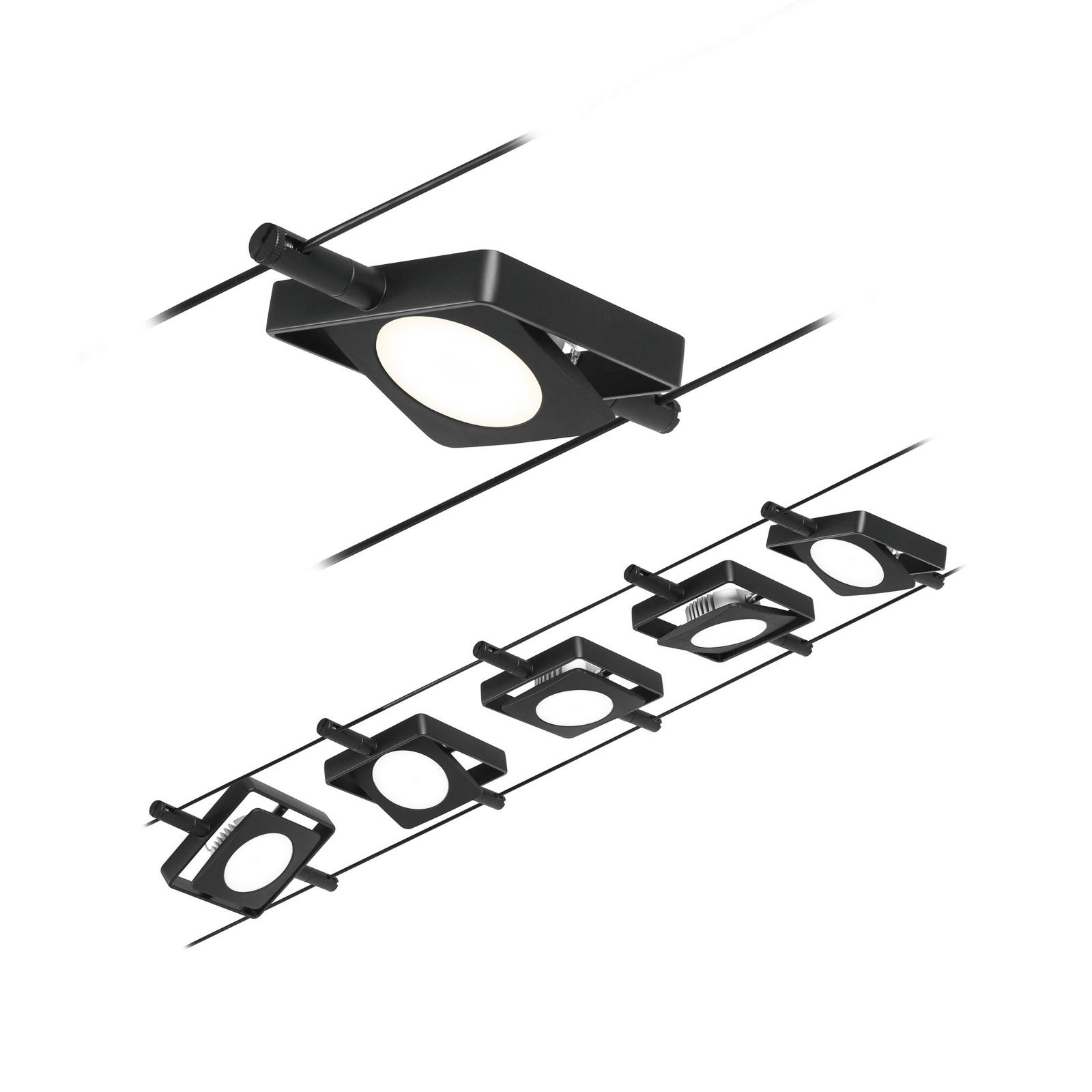 Paulmann Wire MacLED LED-Seilsystem,5-fl. schwarz