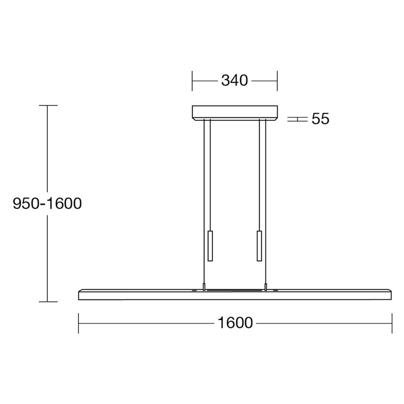HerzBlut Leonora lampa wisząca Up&Down 160 orzech