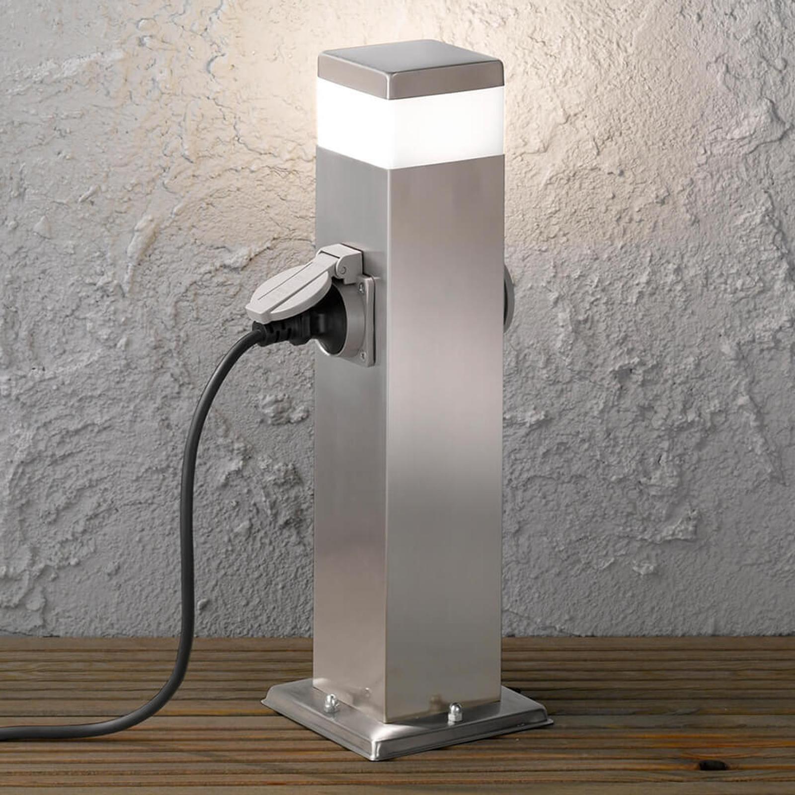 Tara - słupek oświetleniowy LED z 2 gniazdkami