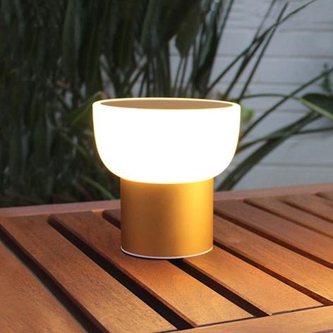 LED buiten sfeerlamp Patio, goud, 16 cm, 1-v. USB