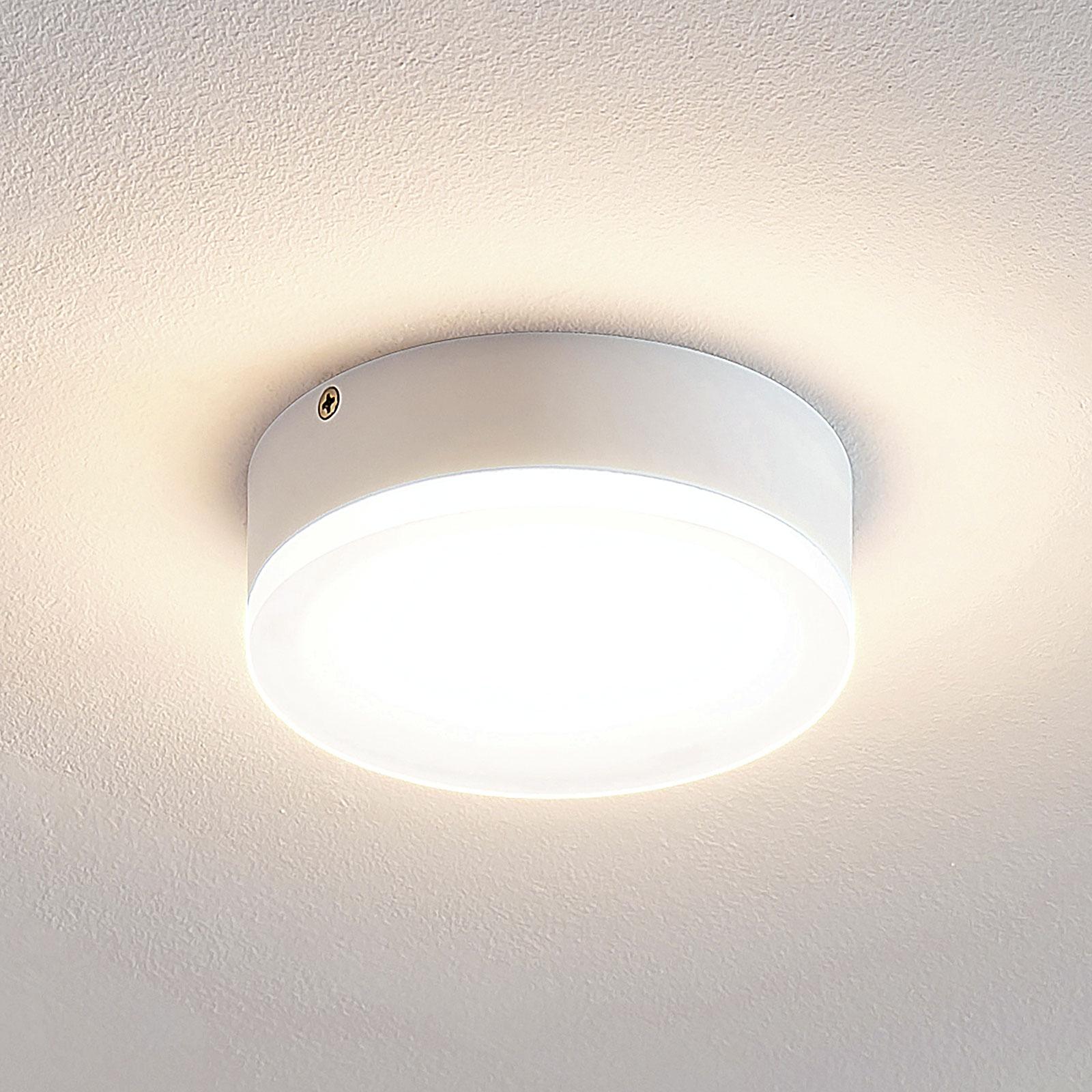 Lindby Leonta LED plafondlamp, wit, Ø 12 cm