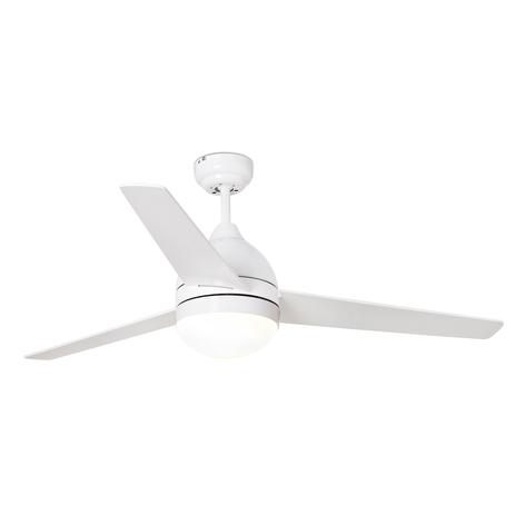 Ventilatore a pale Tabarca con luce, bianco/acero