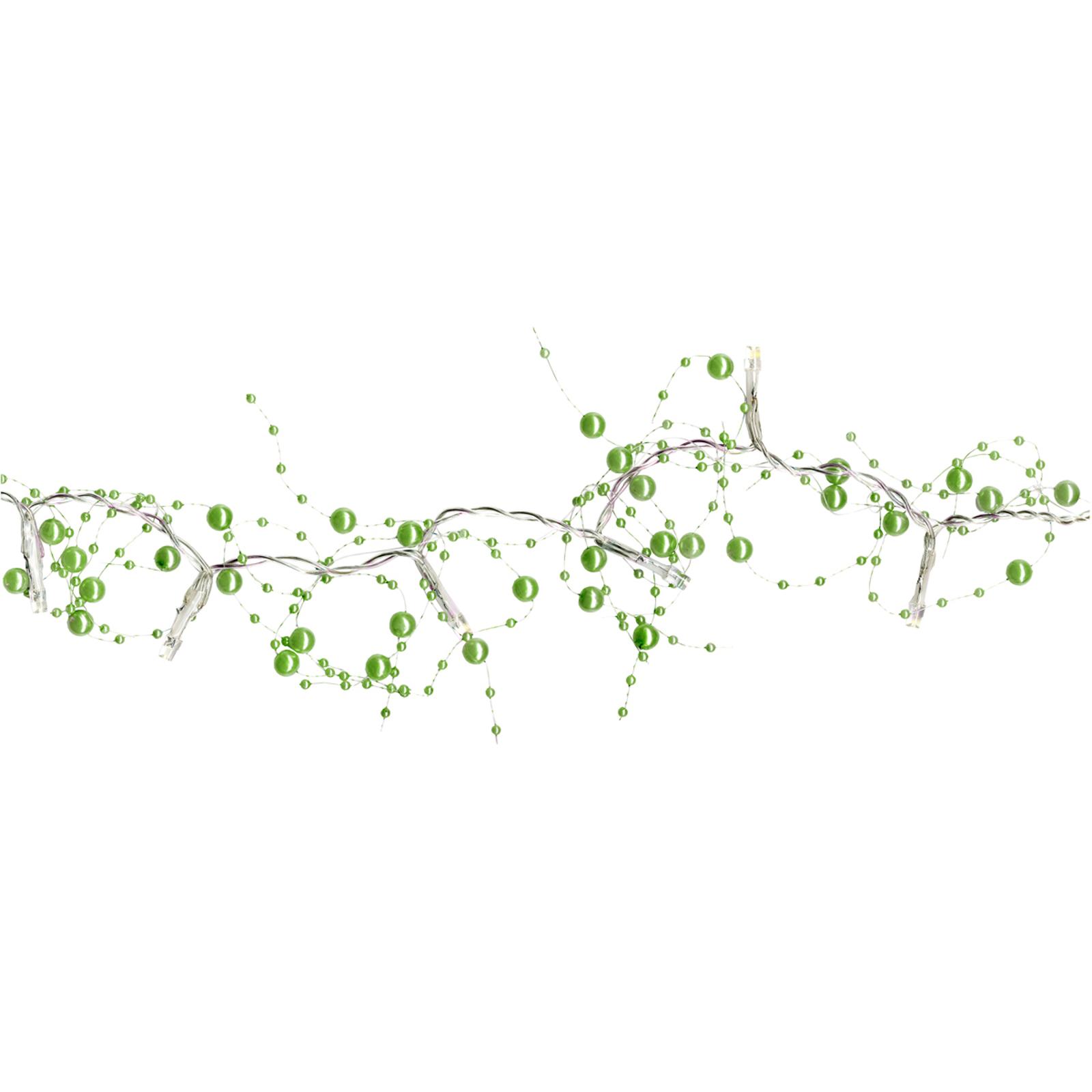 Grøn LED-lyskæde Pärla Garland