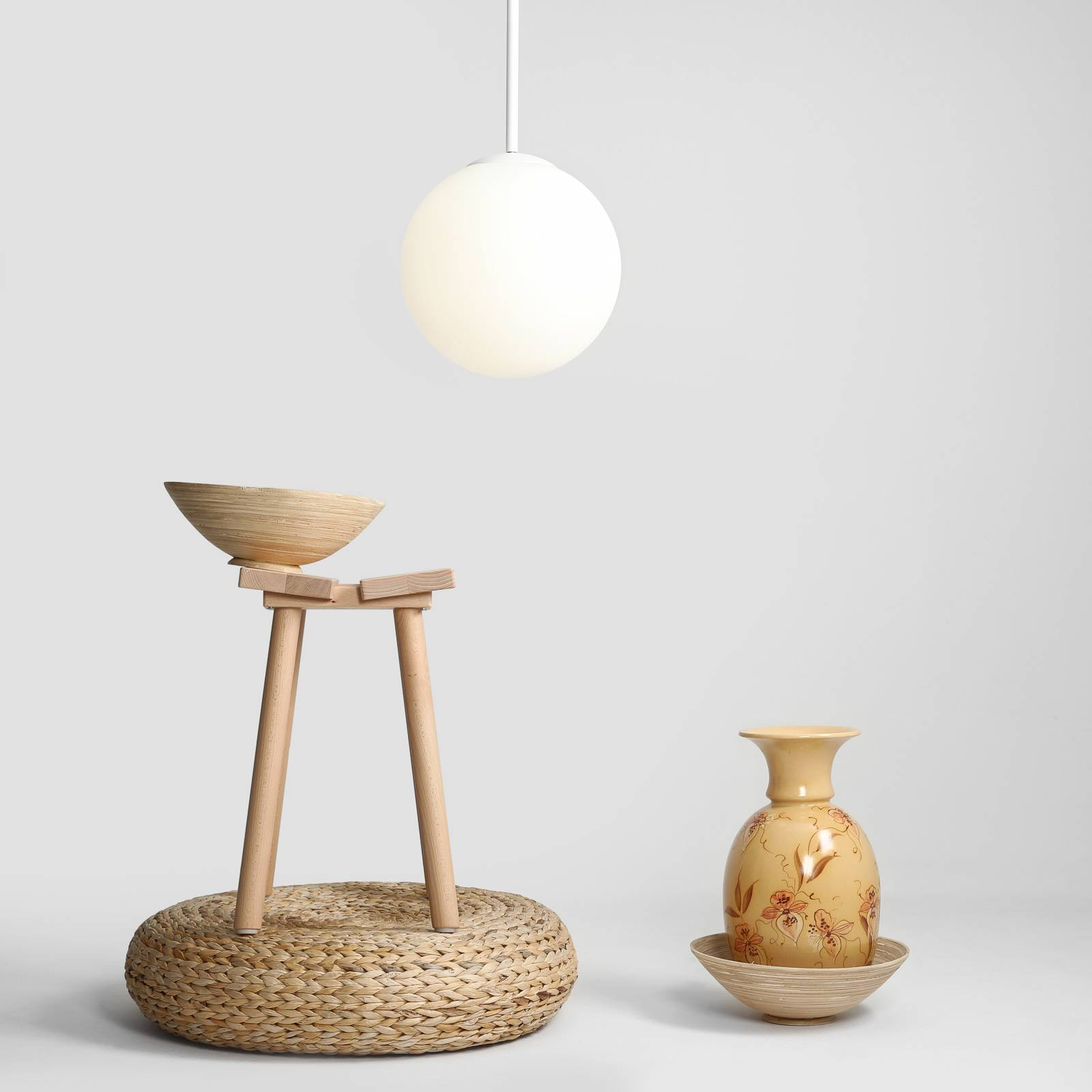 Hanglamp Bosso, 1-lamp, wit