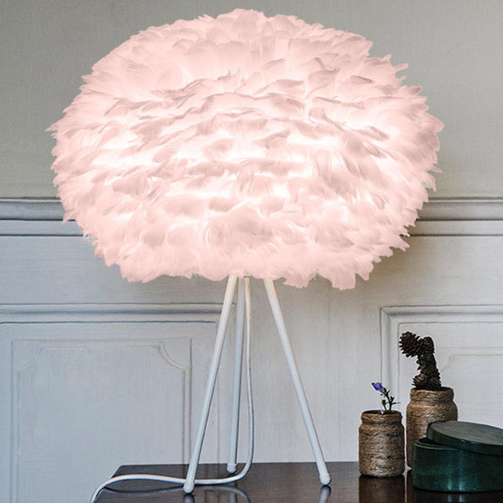 UMAGE Eos medium bordlampe rosa tripod hvit