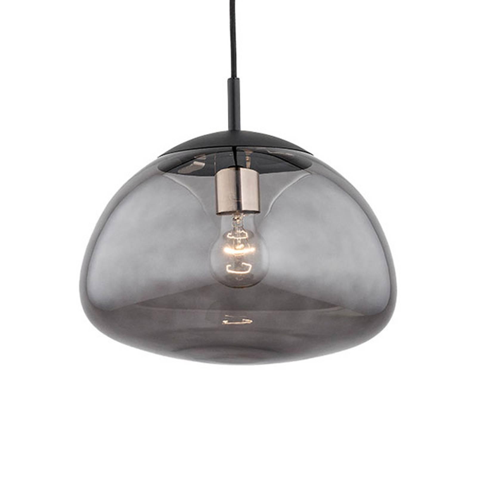 Suspension Turku 1 lampe fumée/noire Ø 30cm