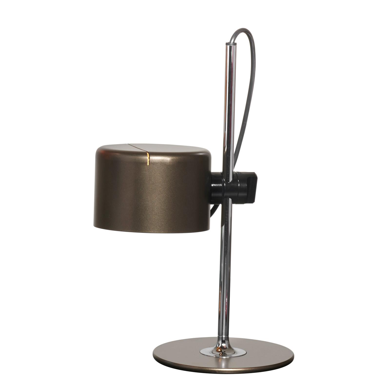 Oluce Mini Coupè LED-Tischleuchte, bronze