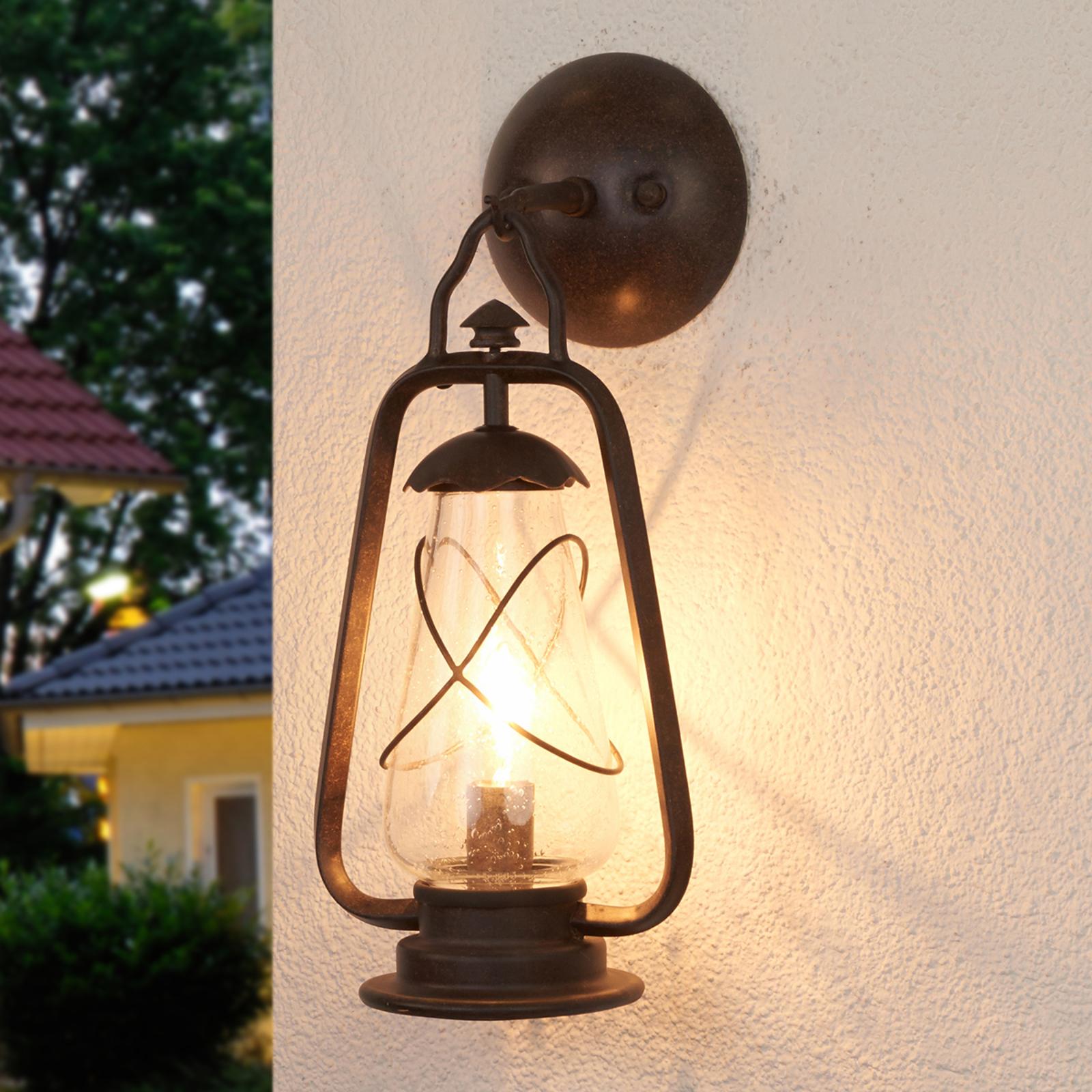 Applique da esterni Miners, stile luce da minatore