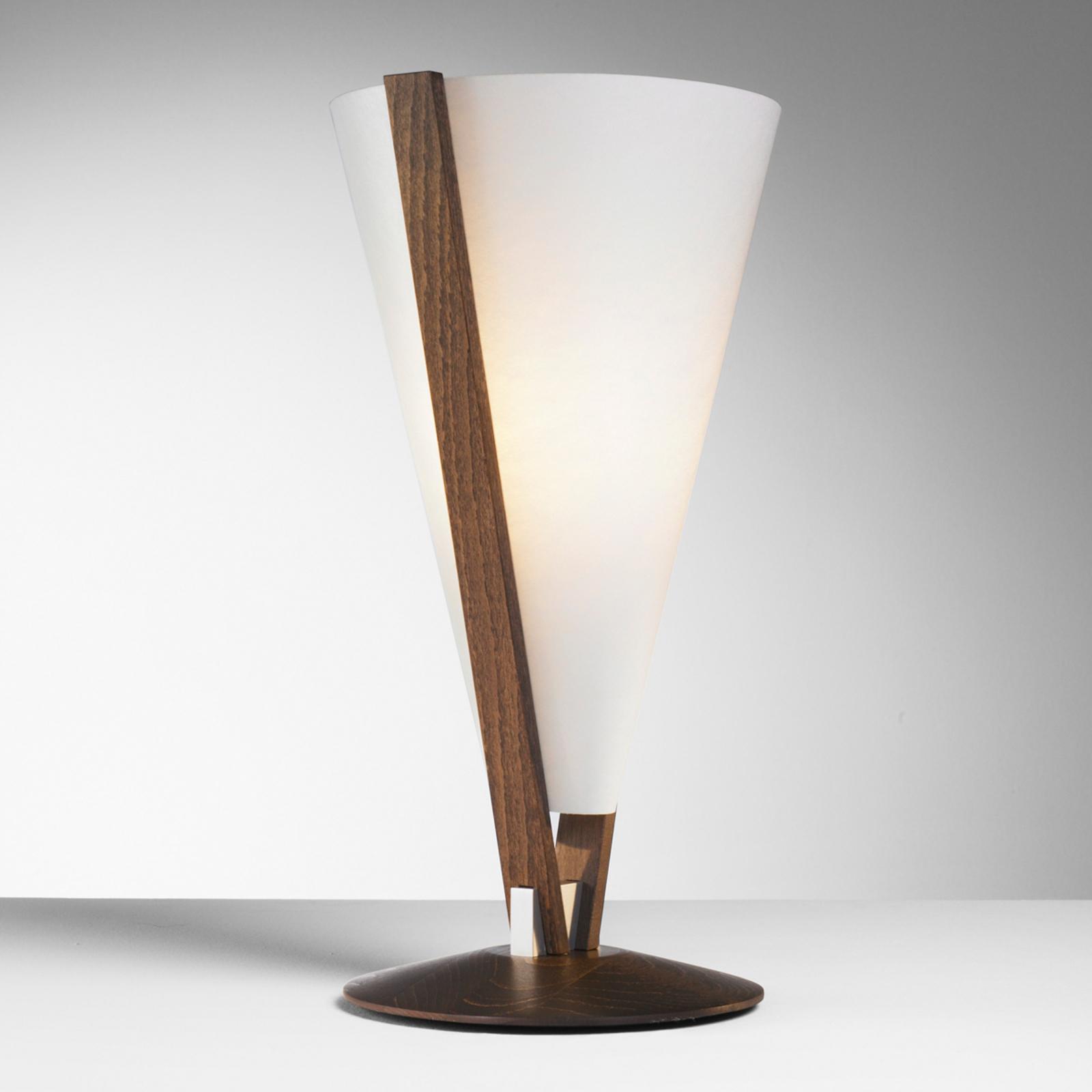 SEBA lampe à poser avec interrupteur à main marron