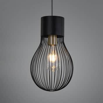 Lámpara colgante Dave, 1 luz, negro