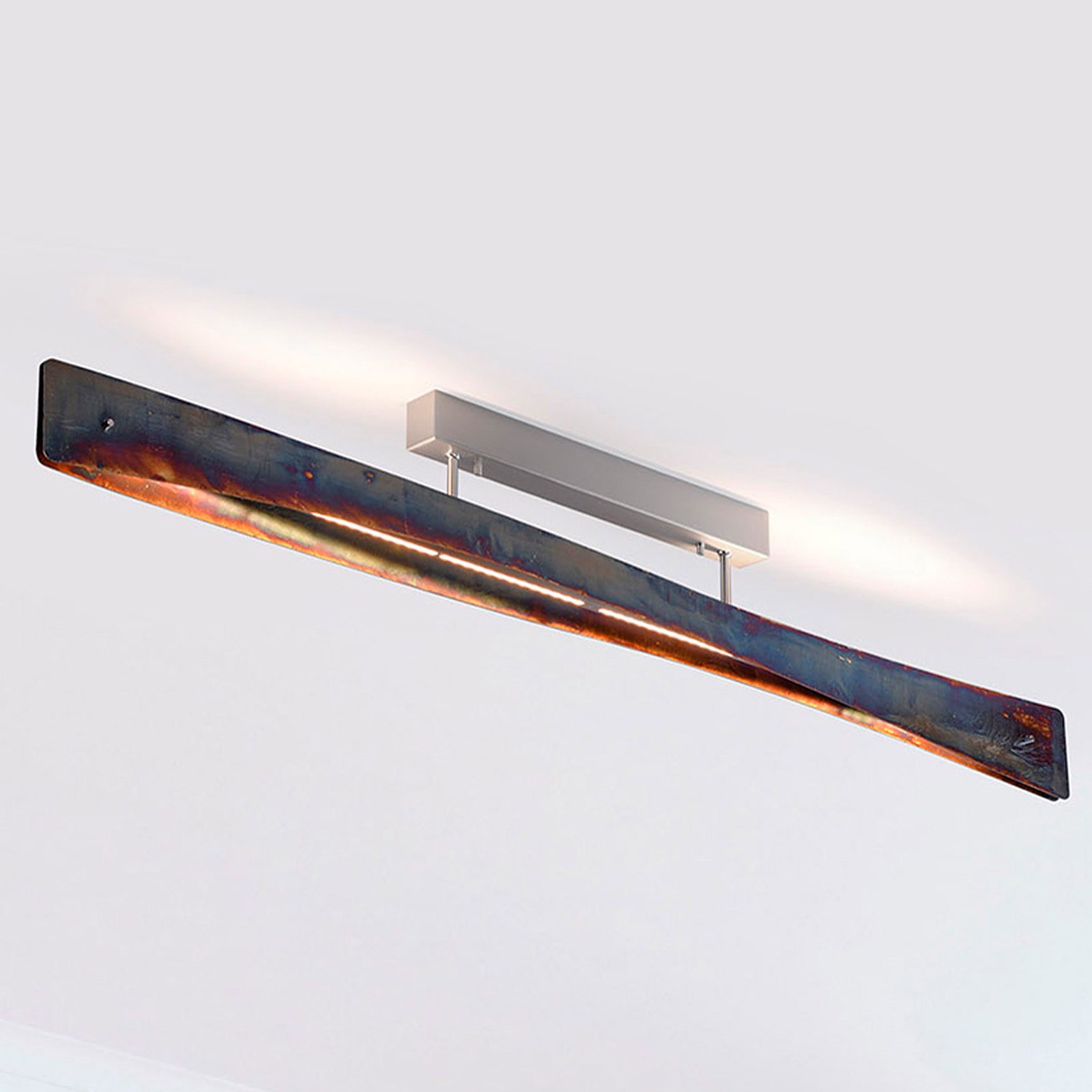 Lucande Lian LED-taklampe, gull oksidert