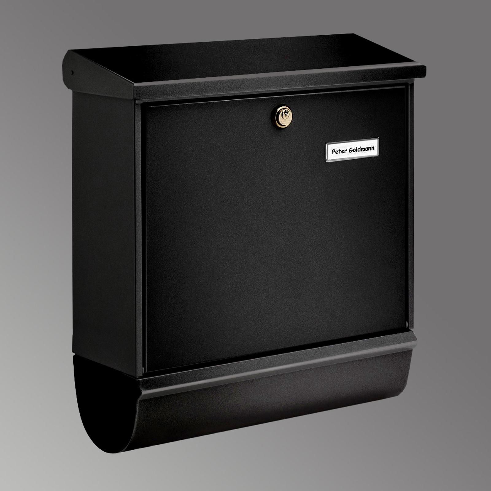 Buzón COMFORT-SET, compartimento periódico negro