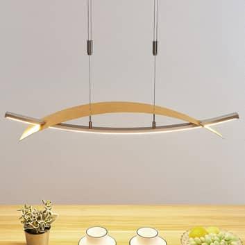 Lámpara colgante LED Marija, horizontal, dorado