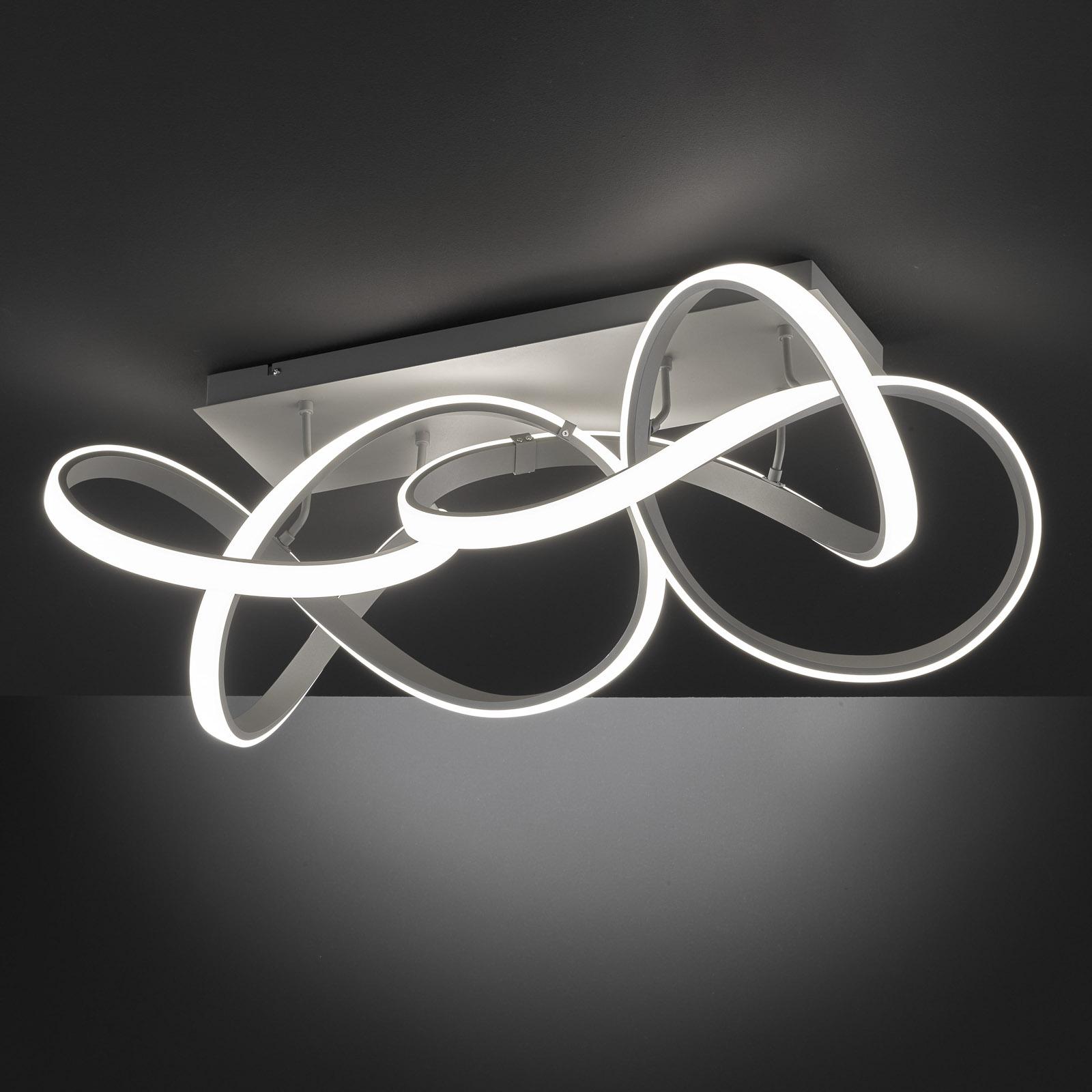 LED-taklampe Indigo, 2 lyskilder, antrasitt