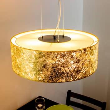 Závěsné světlo Aura, zlaté, Ø 50cm, 4zdrojové