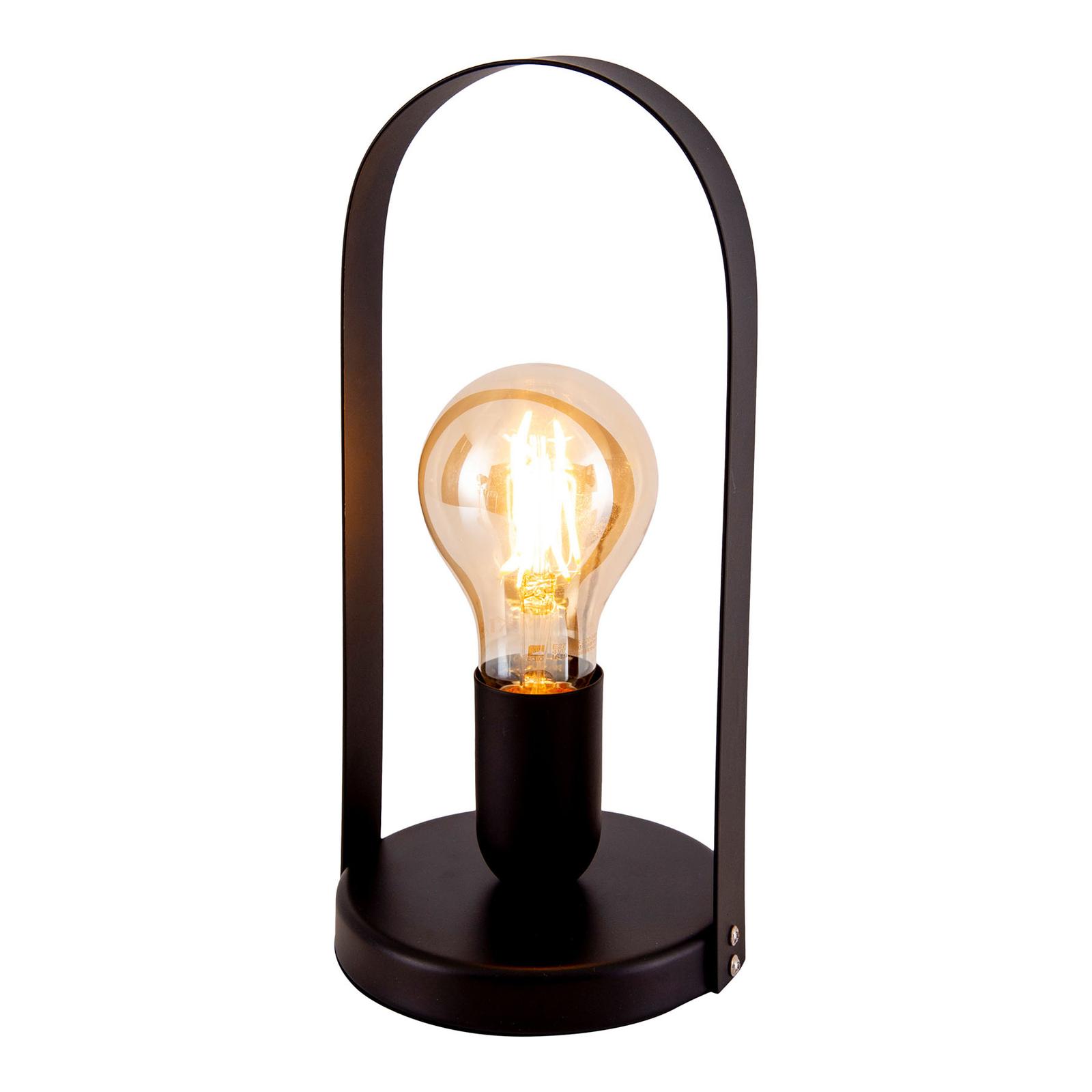 Lampa stołowa Faro z metalu, czarna