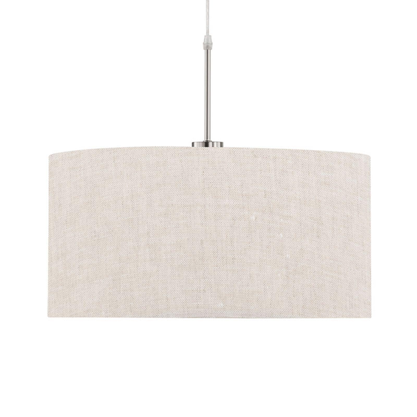 Lámpara colgante Marie, textil, arena Ø 50 cm
