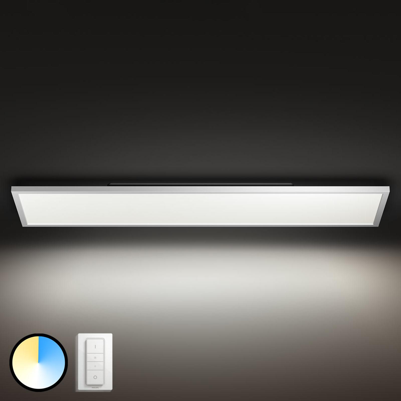 Kantet Philips Hue Aurelle LED-panel, 120 x 30 cm