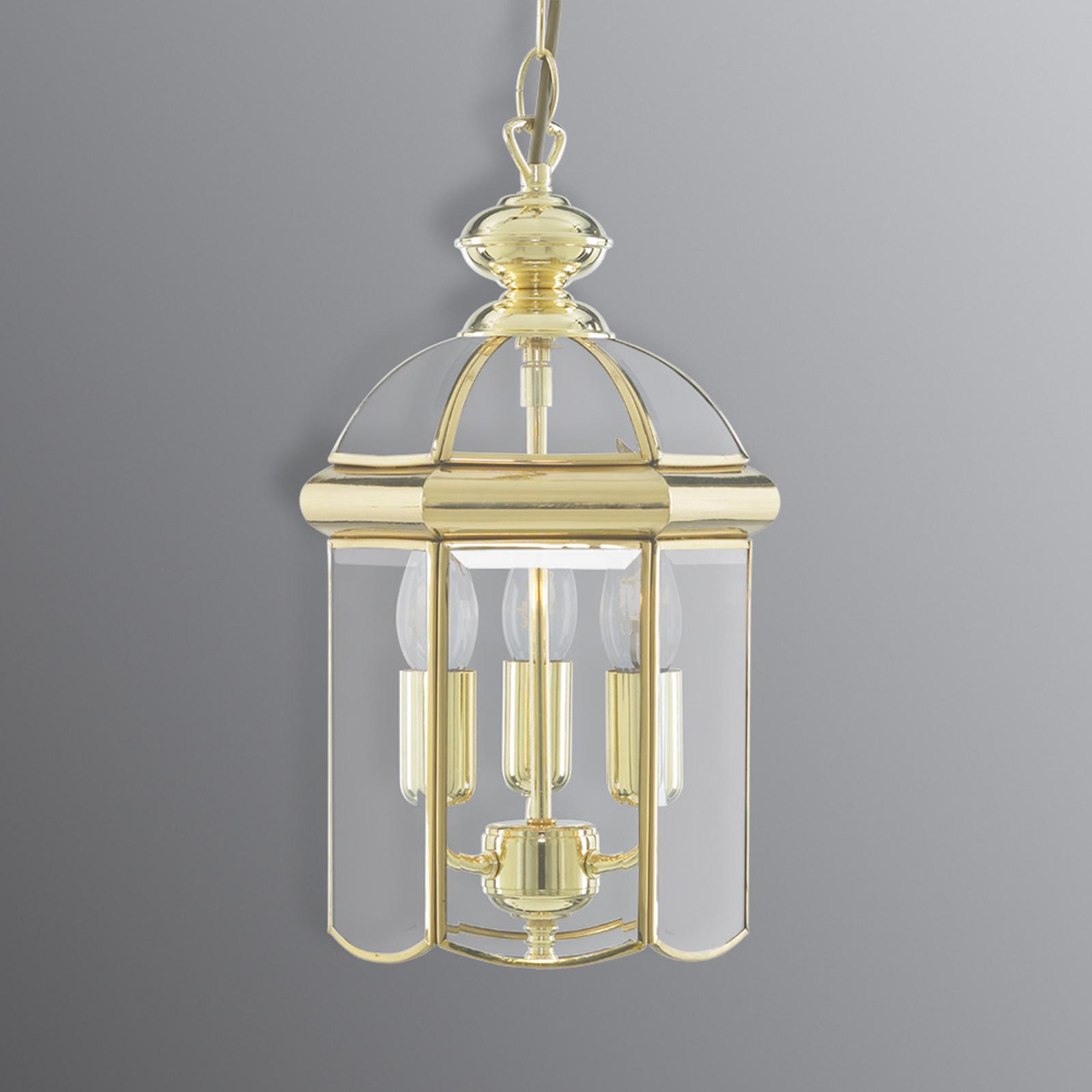 Hængelampe Arlind, Ø 22 cm, messing