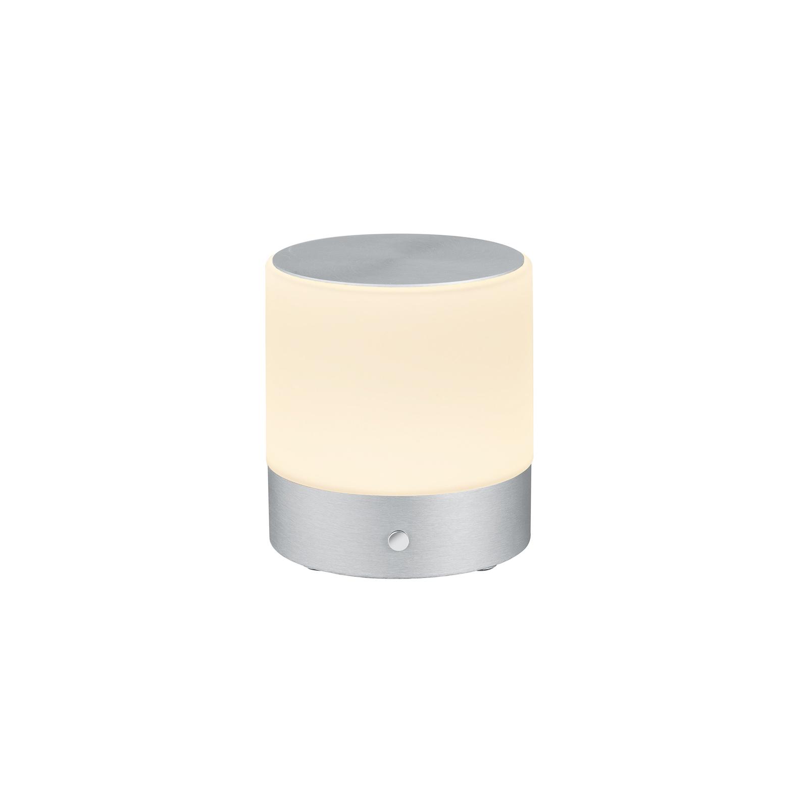 BANKAMP Button LED-Tischlampe Höhe 18,5cm alu