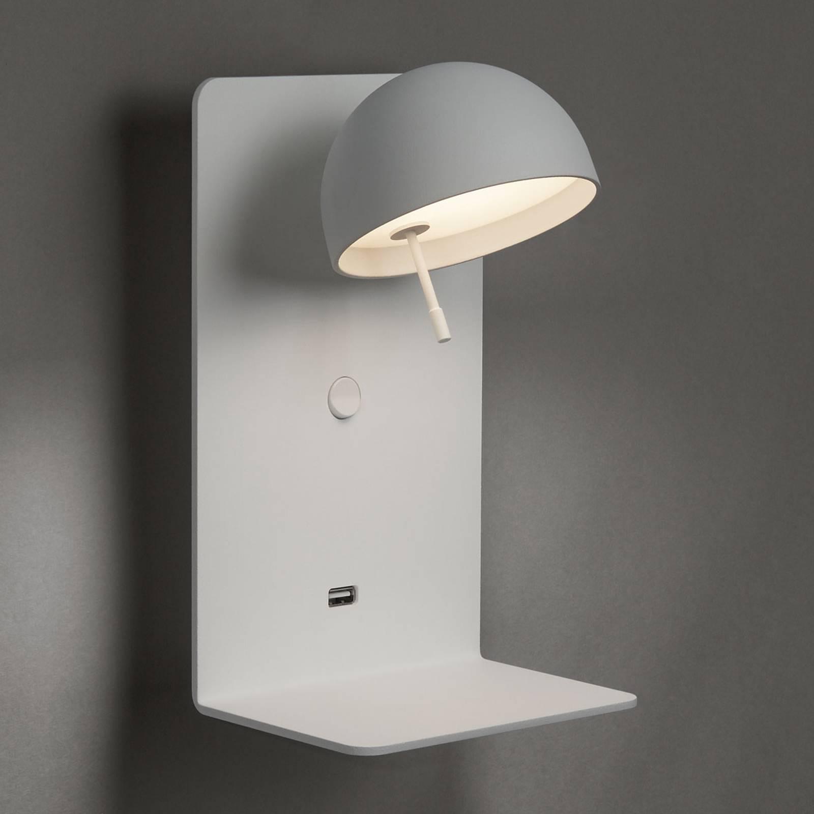 Bover Beddy A/02 LED wandlamp wit met USB-poort