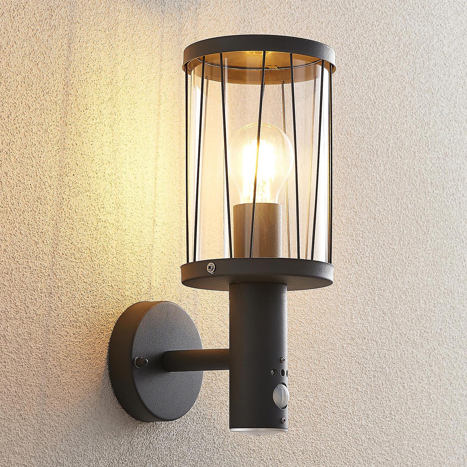 Lindby Yonan Außenwandlampe mit Sensor