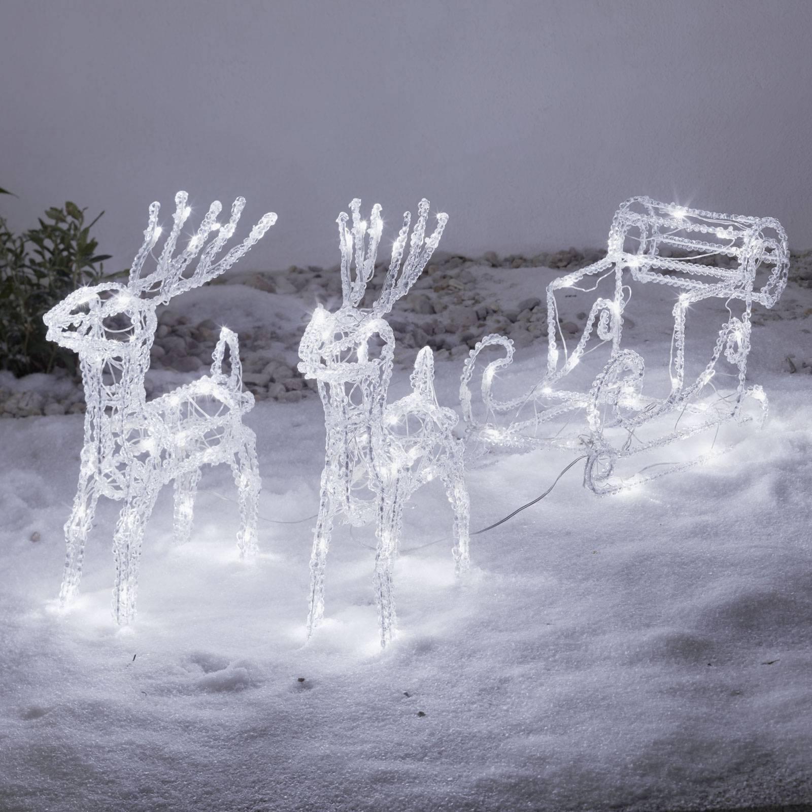 *For X-Mas*: LED-Zweispänner mit Schlitten aus Kunststoff