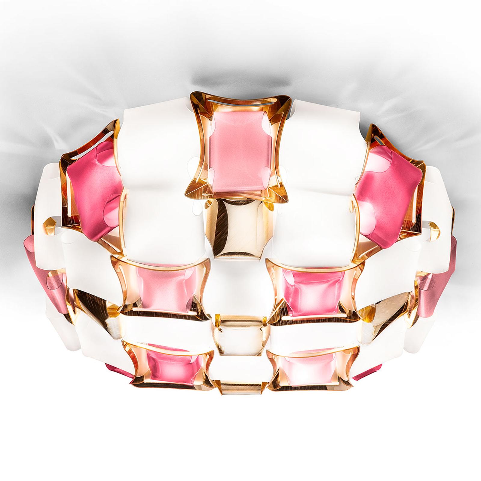 Slamp Mida plafondlamp, 50 cm, rosé