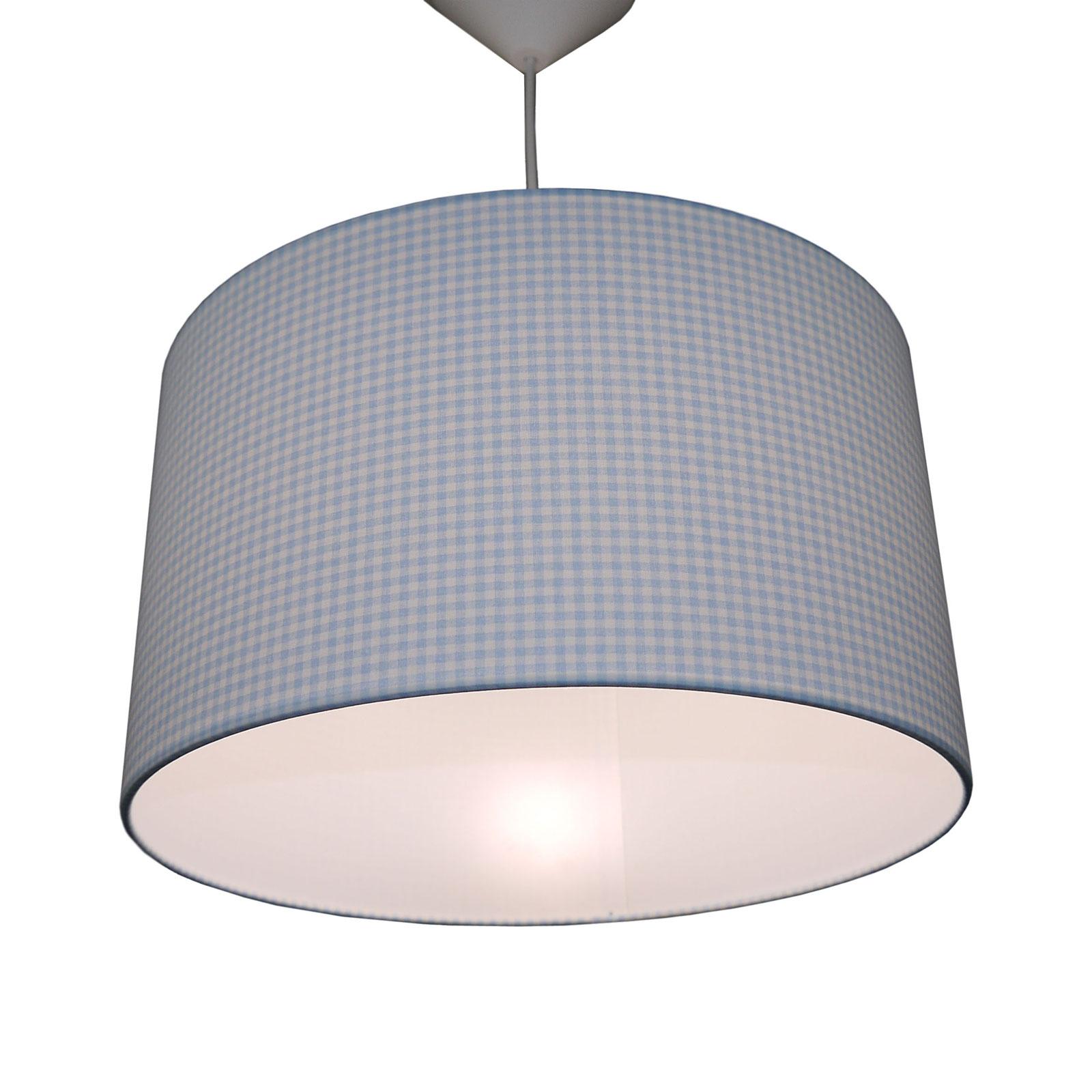 Hanglamp Vichykaro, lichtblauw