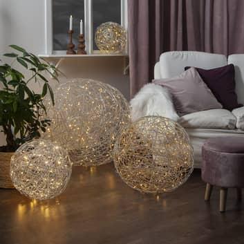 Bola de diseño 3D LED Galax, plata