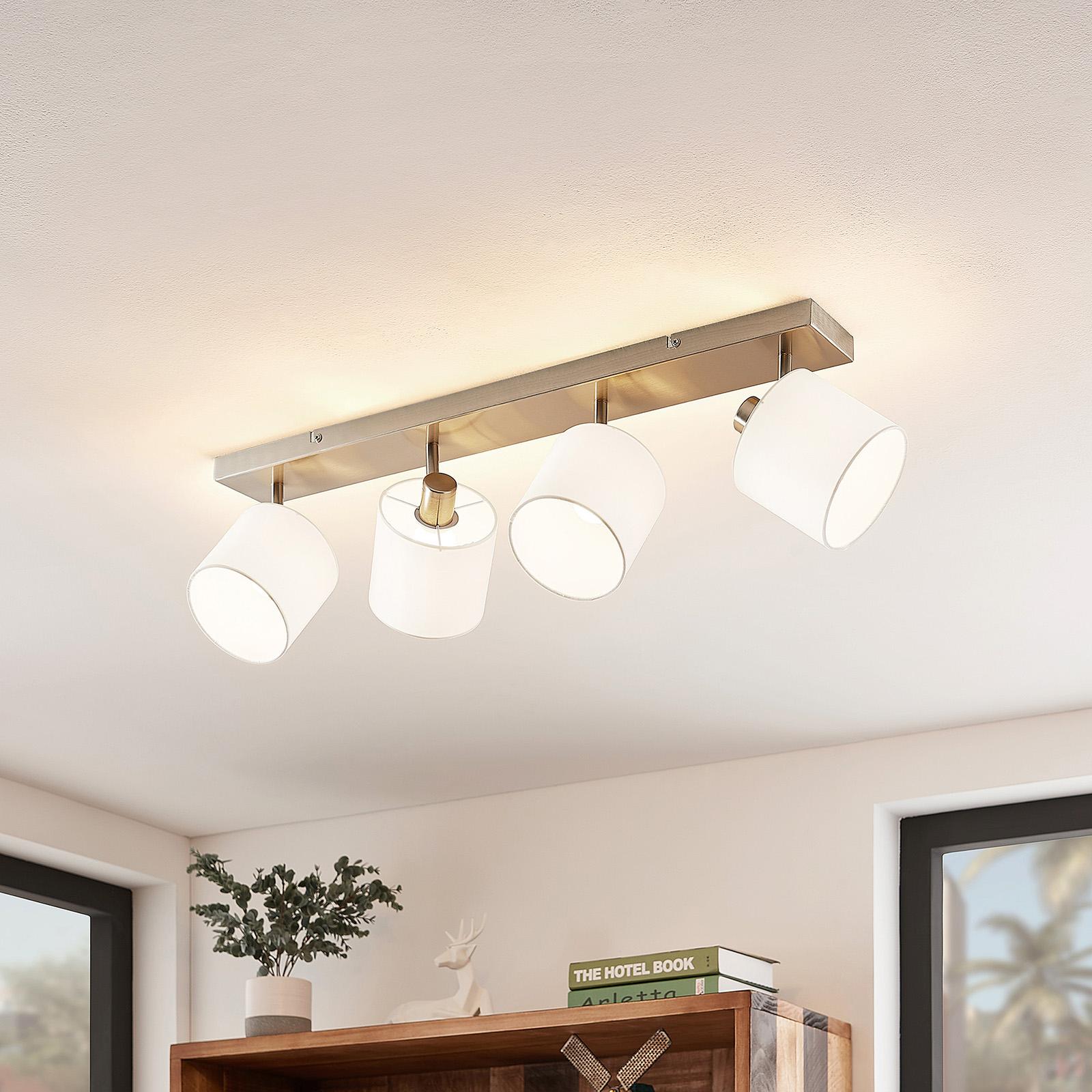 Lindby Stannis lampa sufitowa z 4 kloszami