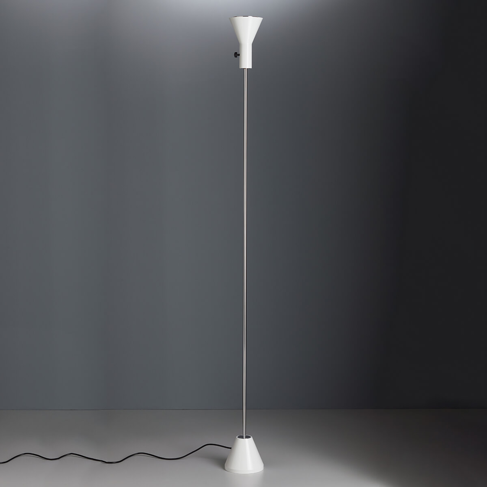 Witte designer vloerlamp Gru met led-licht