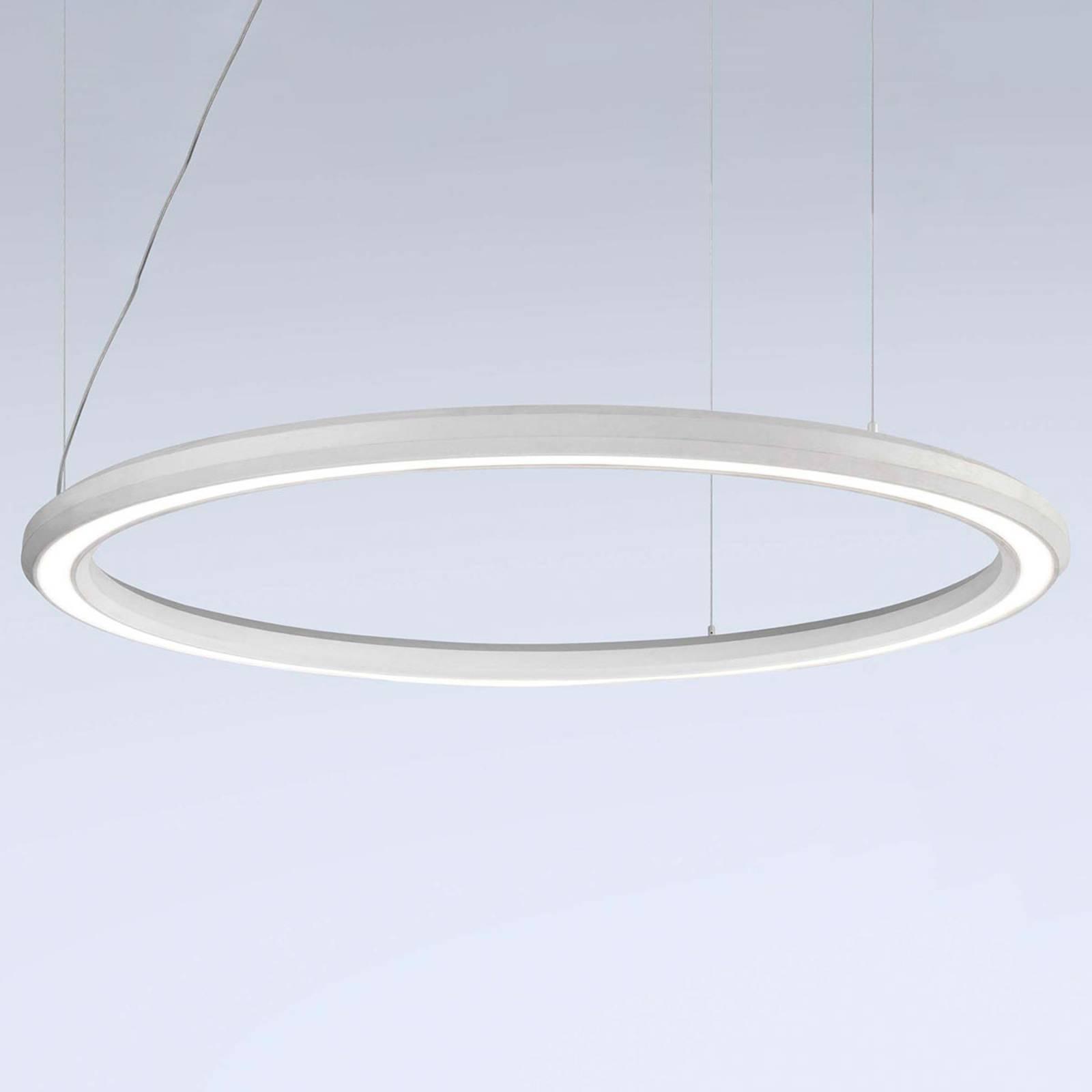 LED hanglamp Materica onder Ø 120 cm wit