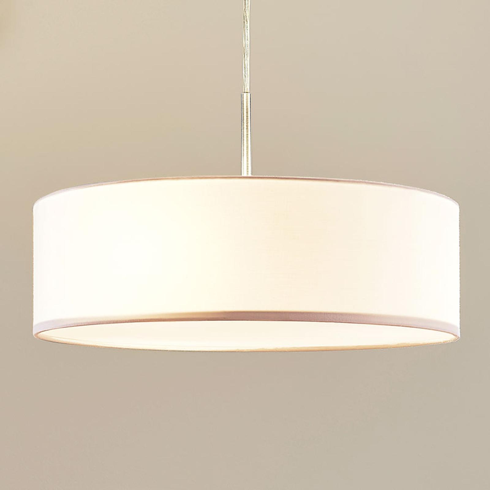 Sebatin - lampada a sospensione, tessuto crema