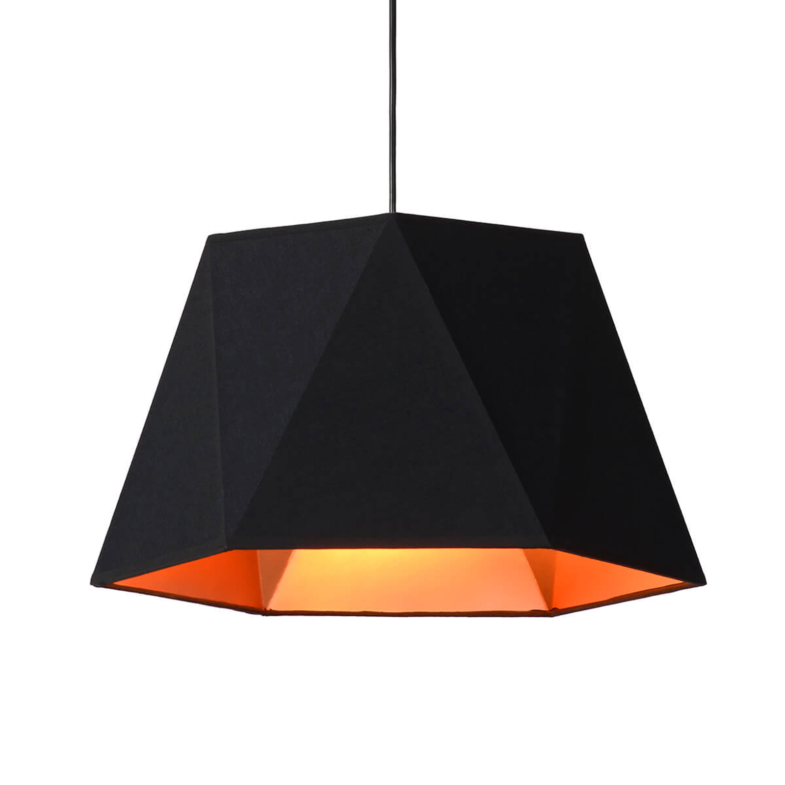 Opvallende hanglamp Alegro in zwart