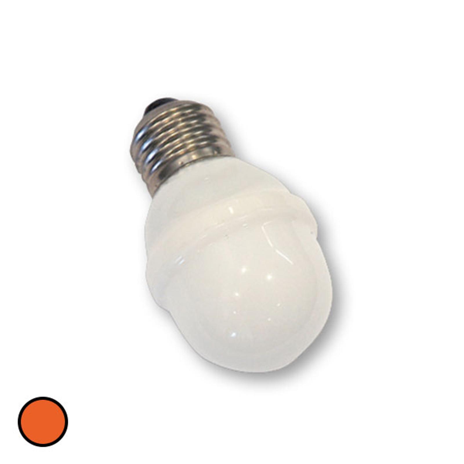 E27 Golfball-Lampe 1W 5,5 VA orange