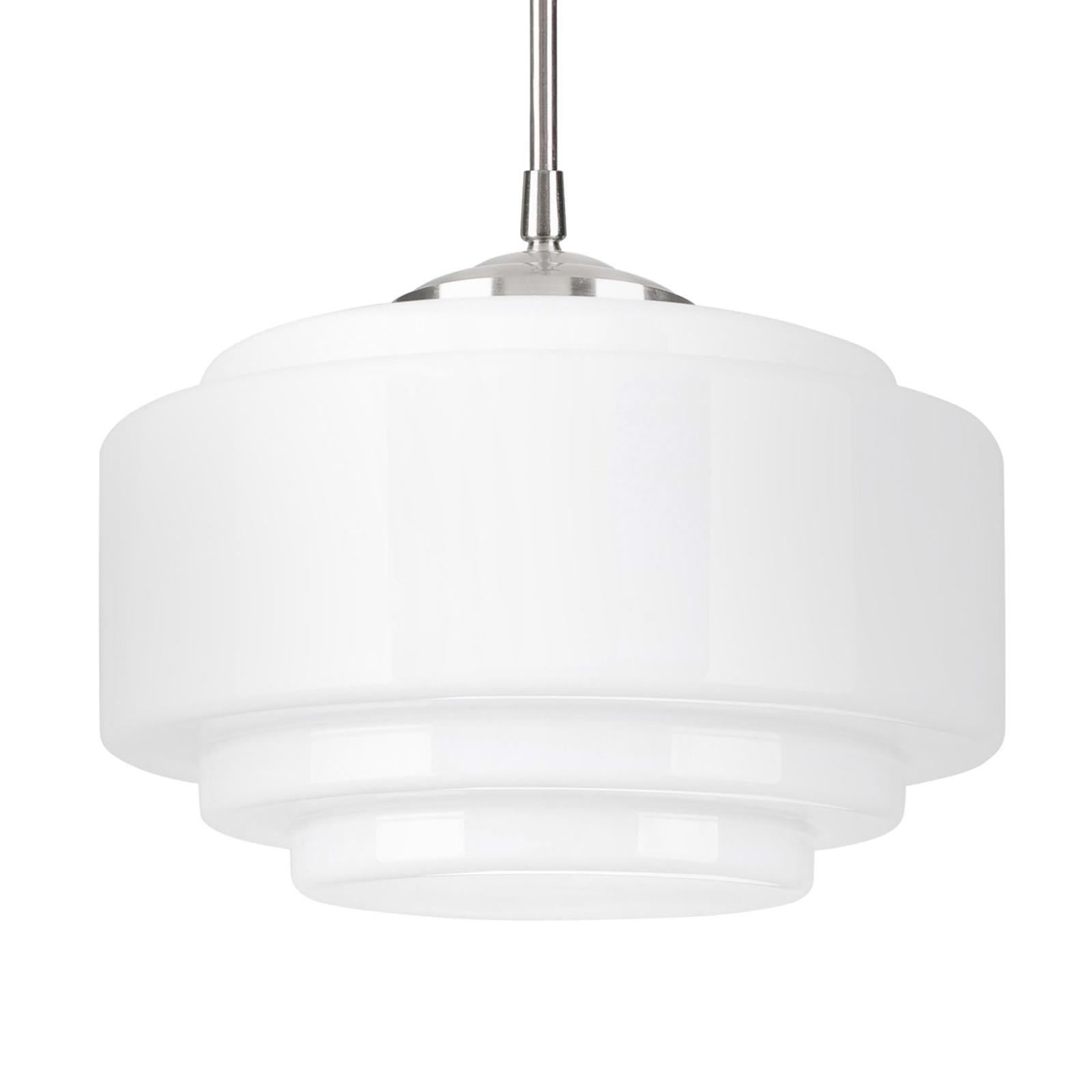 Lampa wisząca Cambridge, regulacja wysokości biała