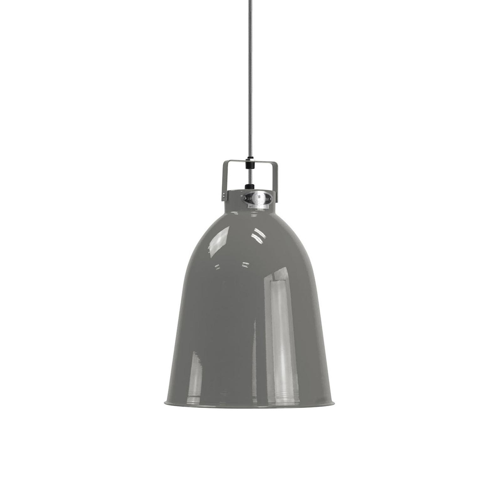 Jieldé C240 hængelampe, blank grå Ø24 cm