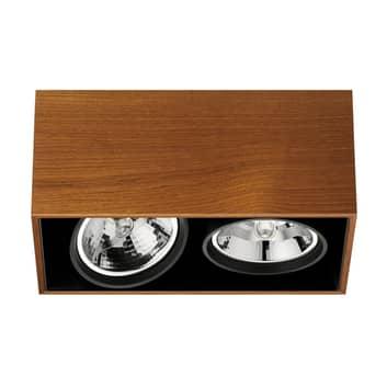Kaksilamppuinen Compass Box -kattovalaisin