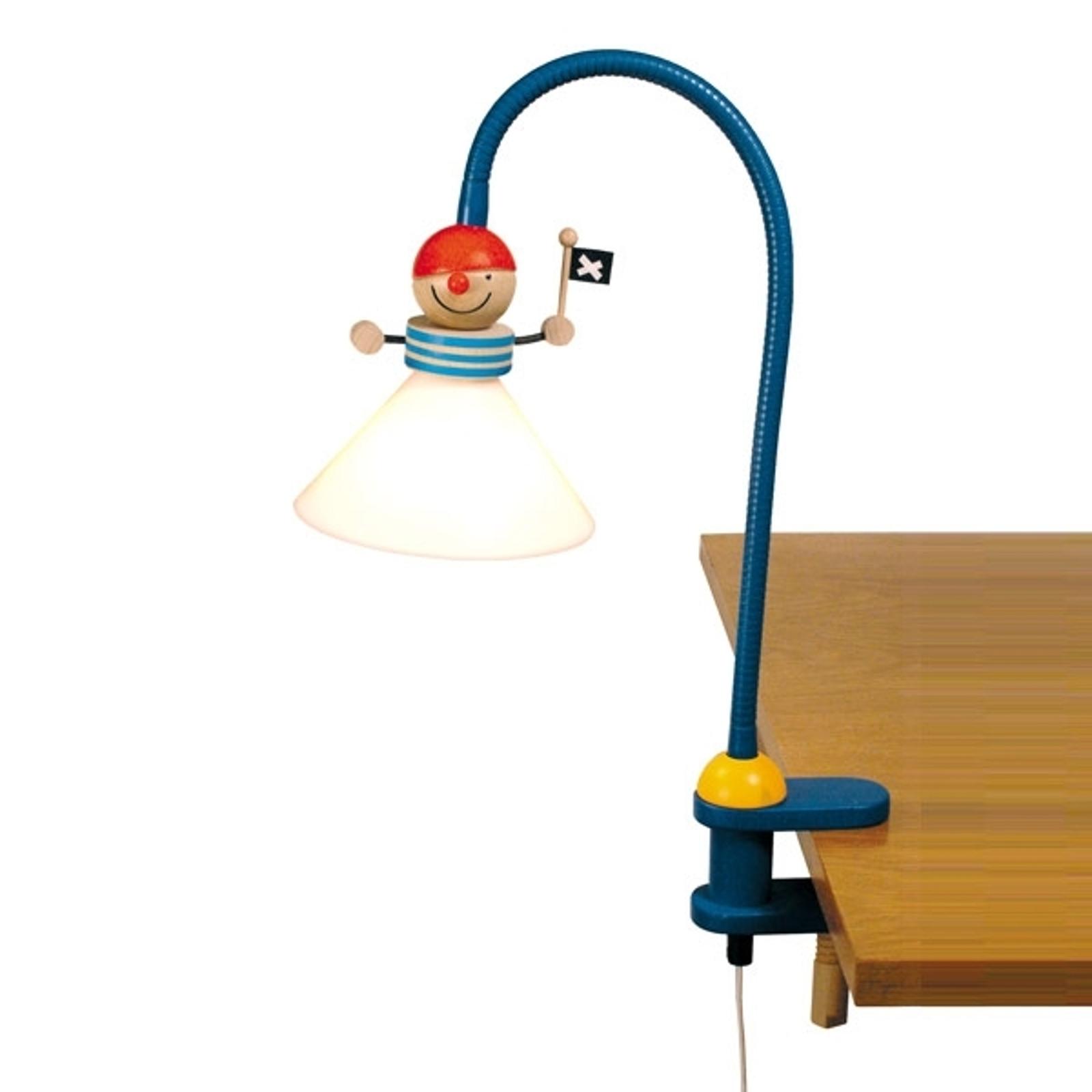Lampe à pince Pirate