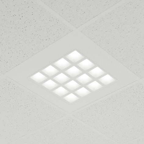 Inbyggd LED-panel Merti, vit, 4 000 K