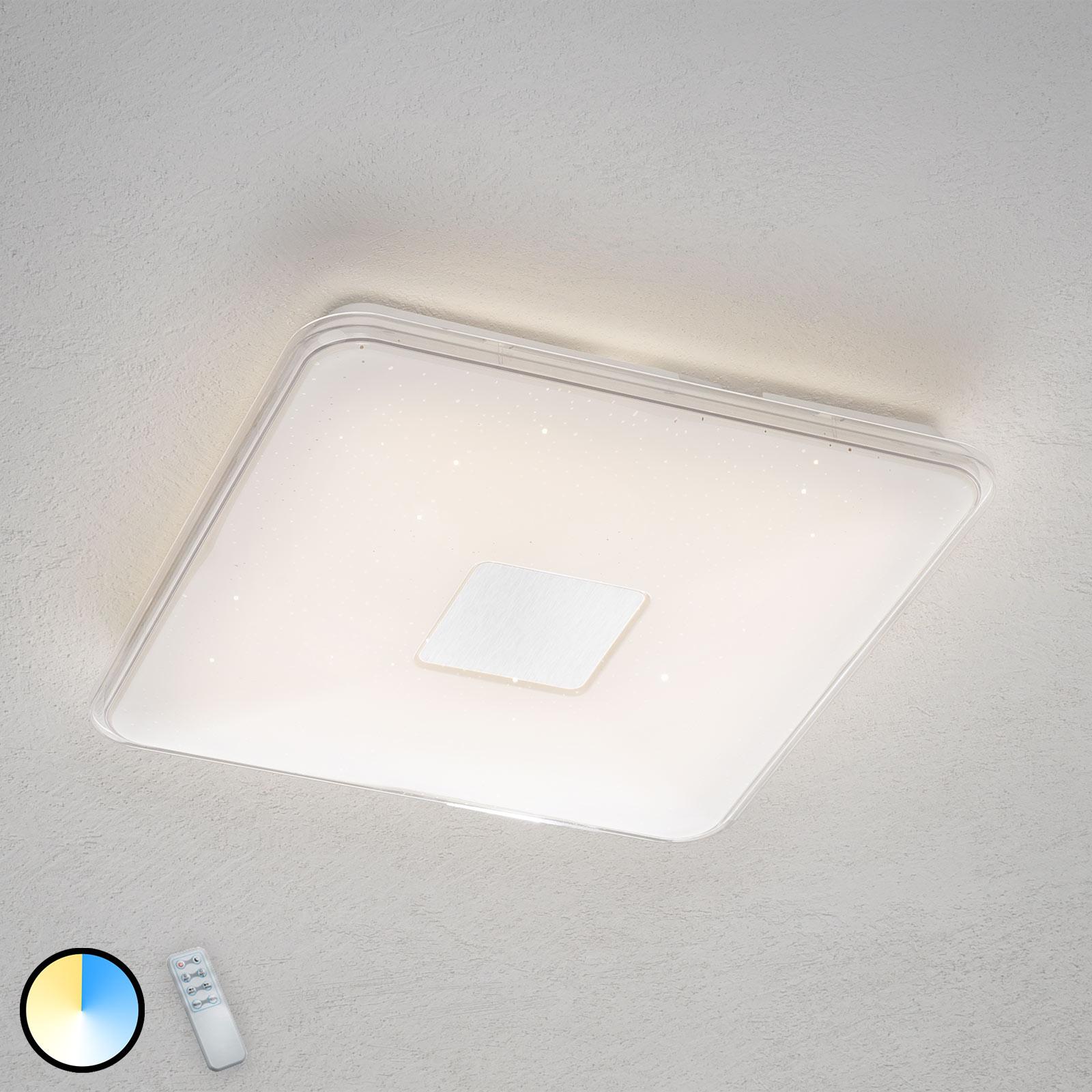 Plafonnier LED carré Samurai, télécommande