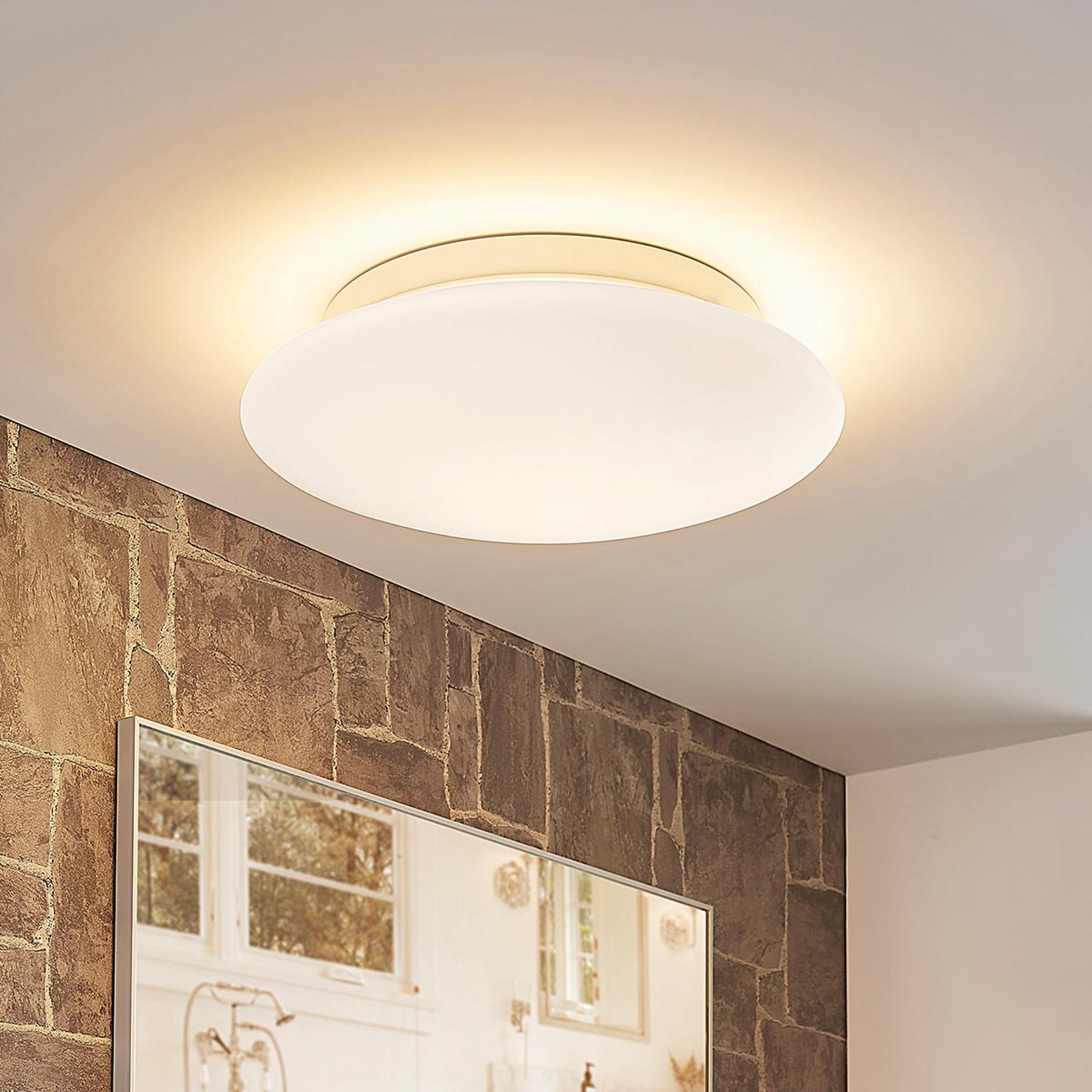 Toan - hvit, dimbar LED-taklampe i glass, IP44
