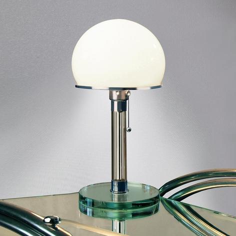 Wagenfeld bordlampe udformet i glas