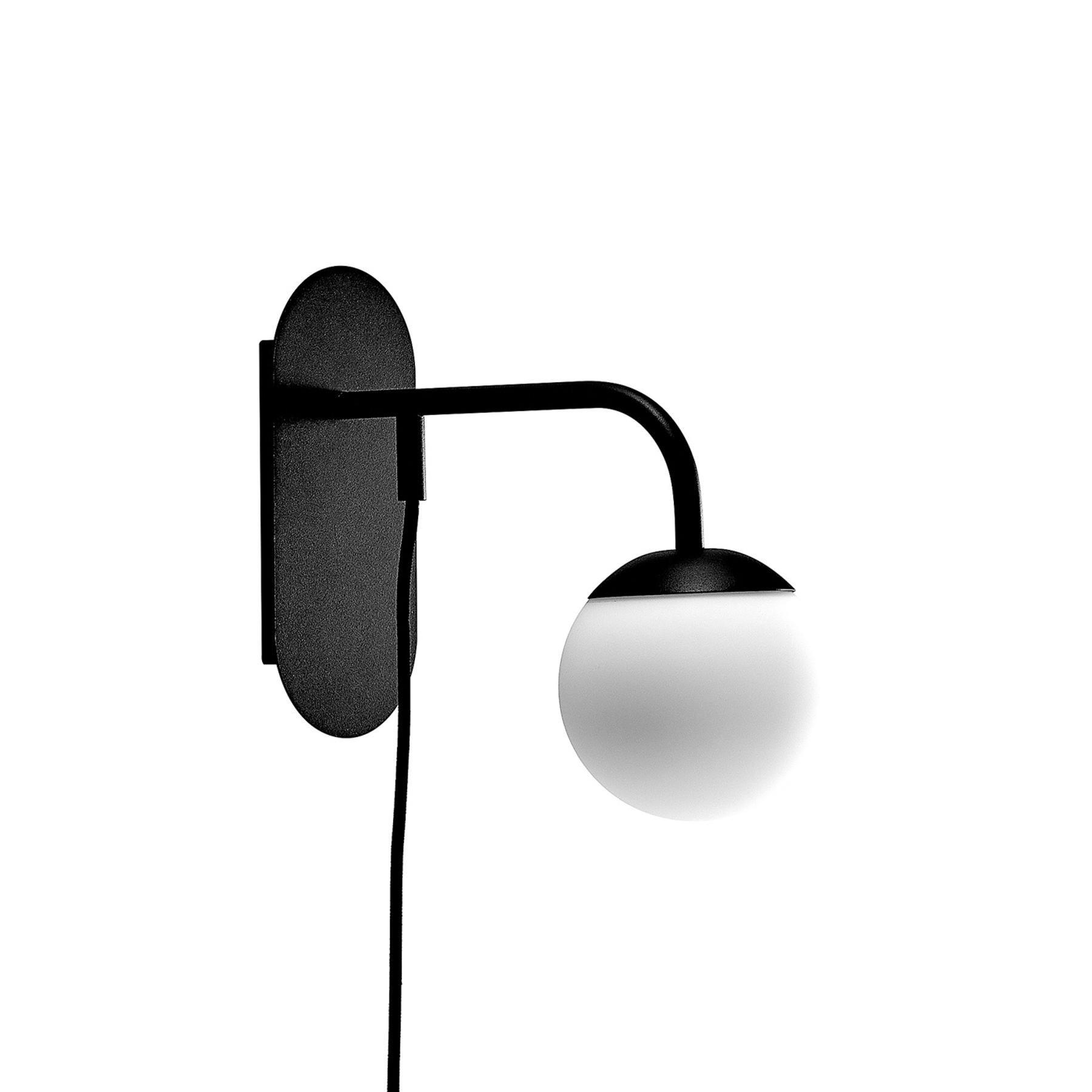 Lucande Rama LED-Wandleuchte mit Glas-Lampenschirm