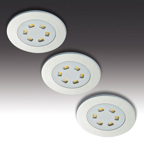 Kit da 3 luci LED da incasso R 55