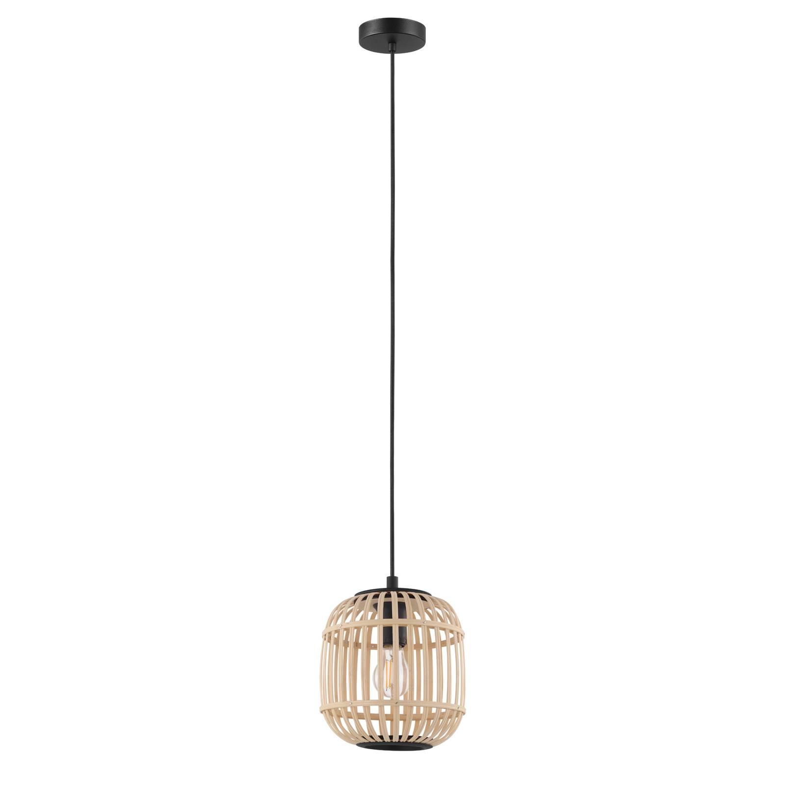 Hanglamp Bordesley met houten kap 21 cm
