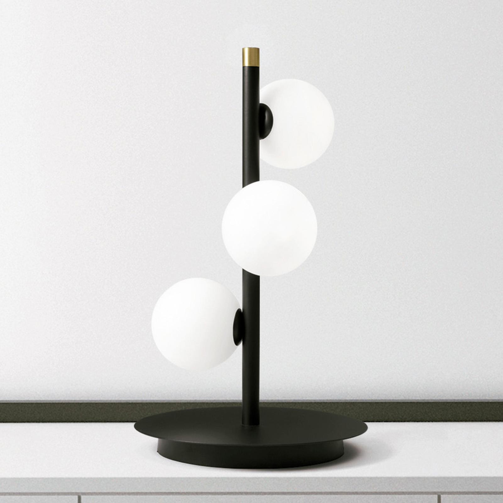 Tafellamp Pomì met drie glasbollen